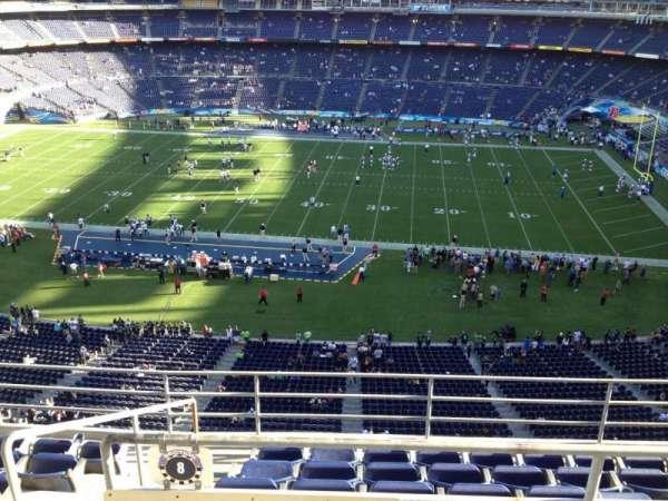 SDCCU Stadium, sección: V8, fila: 6, asiento: 13