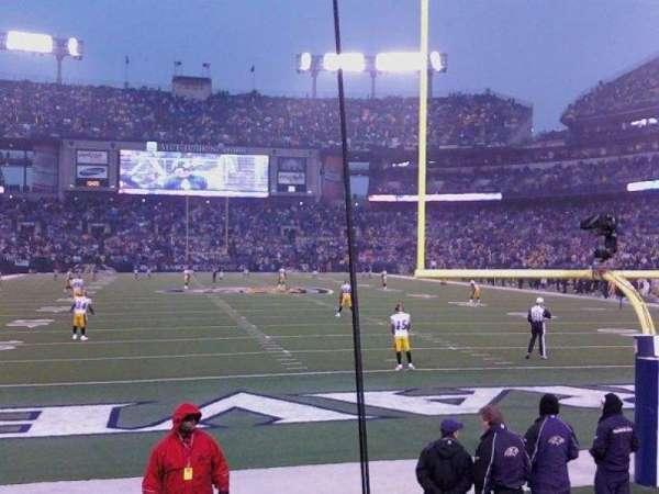 M&T Bank Stadium, sección: 114, fila: 4, asiento: 3