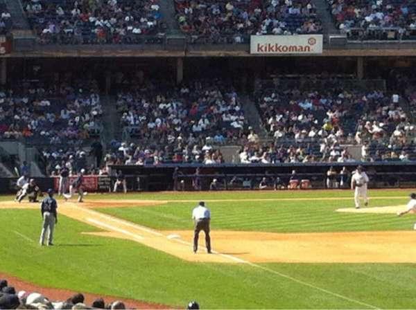 Yankee Stadium, sección: 109, fila: 18, asiento: 9