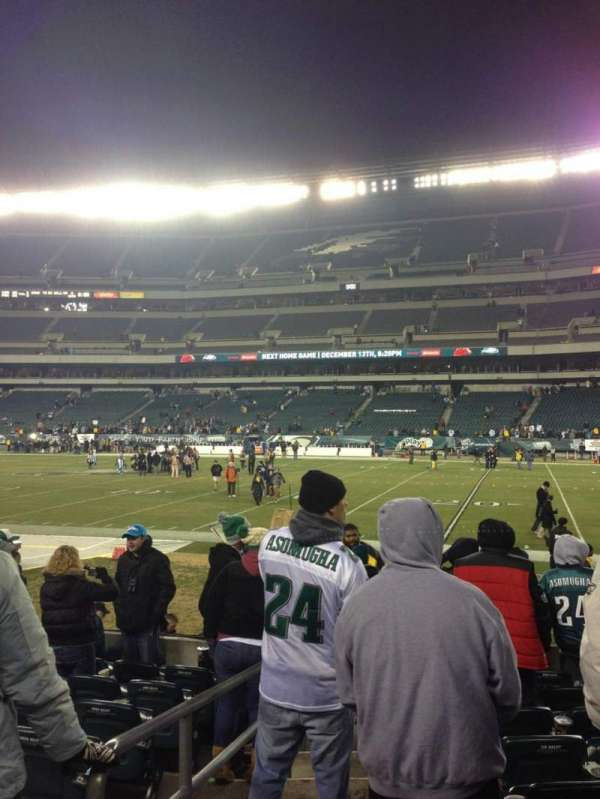 Lincoln Financial Field, sección: 104, fila: 9, asiento: 20