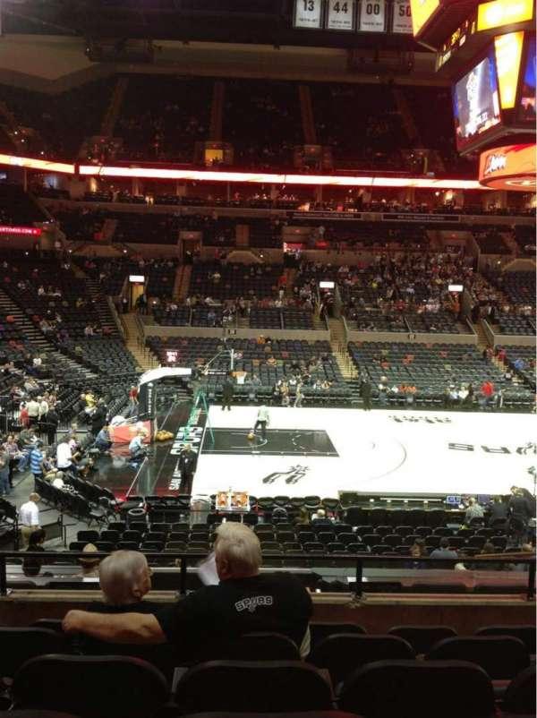 AT&T Center, sección: 109, fila: 25, asiento: 8