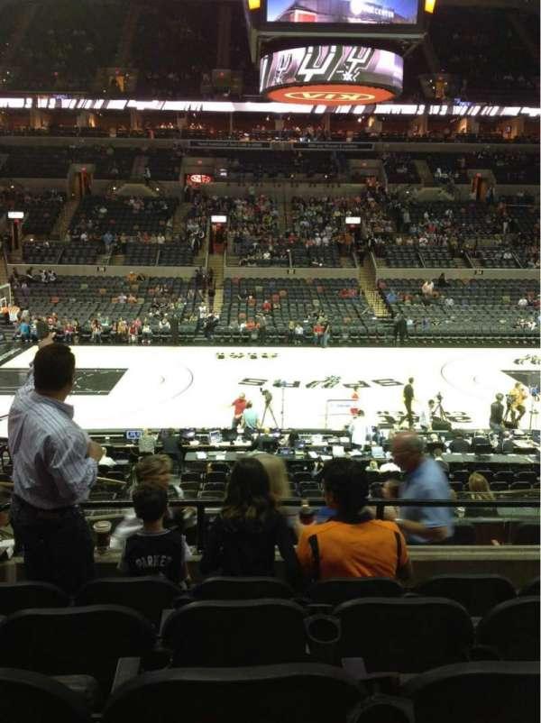 AT&T Center, sección: 108, fila: 24, asiento: 6