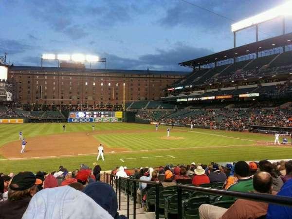 Oriole Park at Camden Yards, sección: 56, fila: 22, asiento: 1