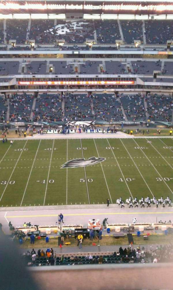 Lincoln Financial Field, sección: 201, fila: 1