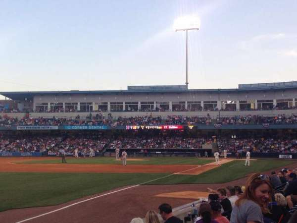 Fifth Third Field, sección: 101, fila: G, asiento: 7