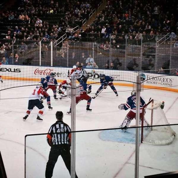 Madison Square Garden, sección: 120, fila: 8, asiento: 8