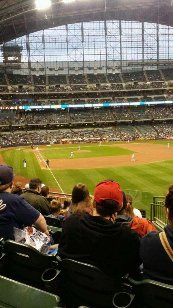 Miller Park, sección: 206, fila: 8, asiento: 20