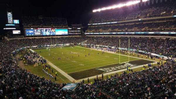 Lincoln Financial Field, sección: SW Terrace 1, fila: 1, asiento: 12