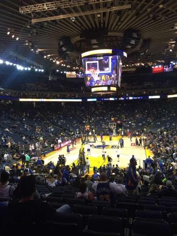 Oracle Arena, sección: 121, fila: 18, asiento: 12