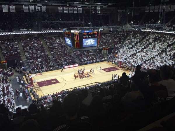 Reed Arena, sección: 223, fila: M, asiento: 12