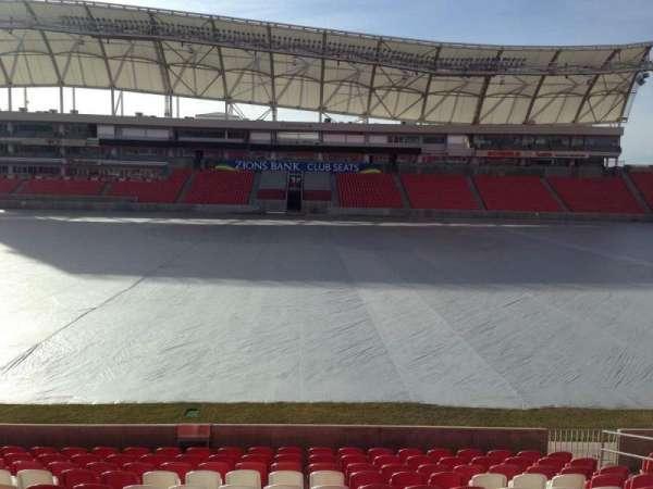 Rio Tinto Stadium, sección: 1, fila: p, asiento: 15