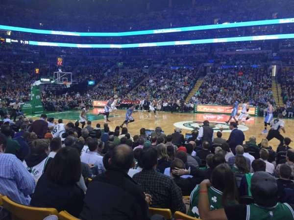 TD Garden, sección: Loge 12, fila: 7, asiento: 5