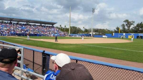 Florida Auto Exchange Stadium, sección: 100A, fila: 2, asiento: 18