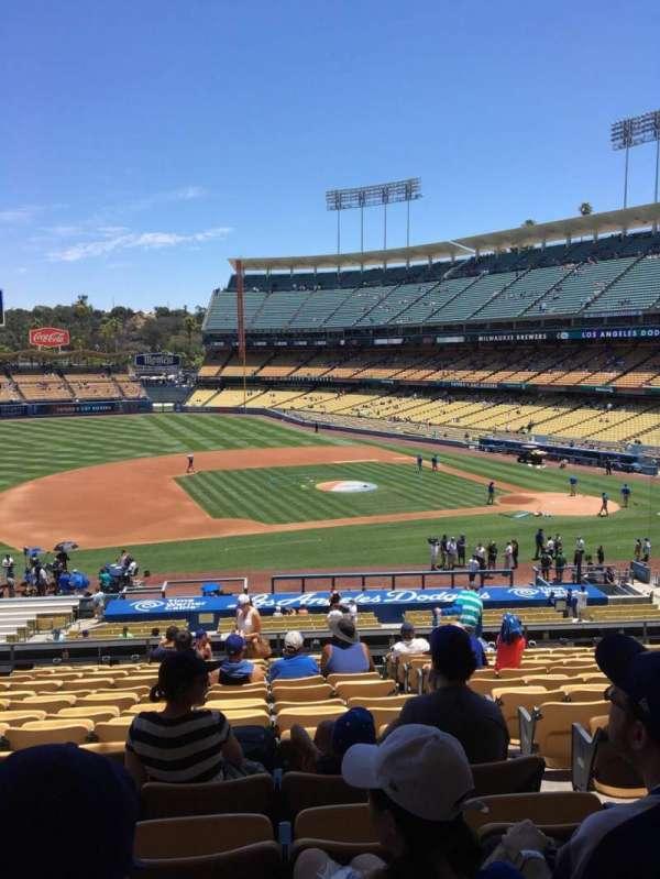Dodger Stadium, sección: 135LG, fila: O, asiento: 3
