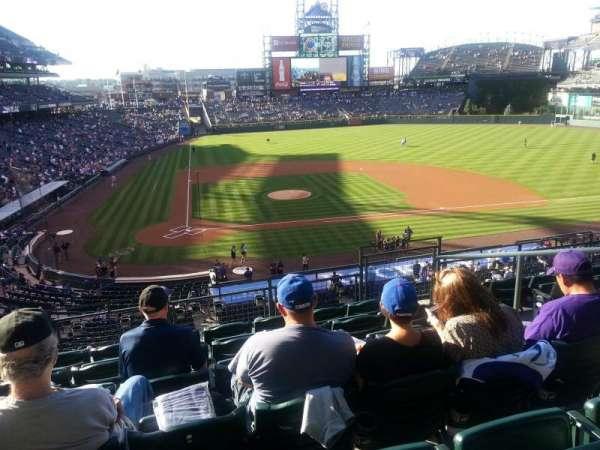 Coors Field, sección: 226, fila: 6, asiento: 5
