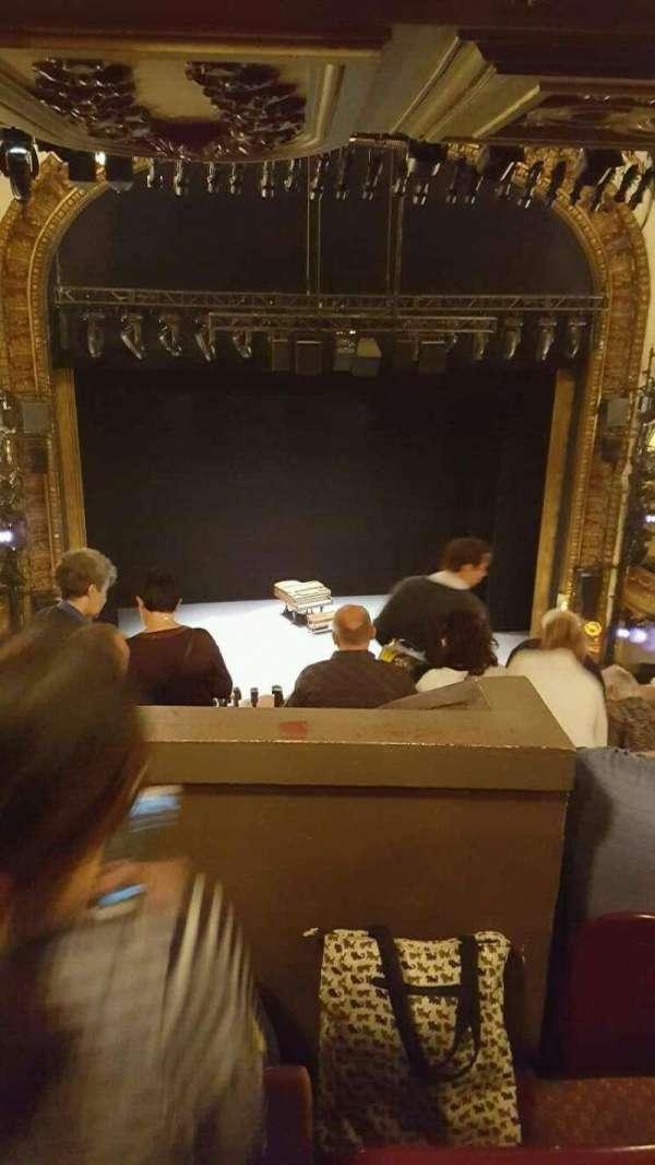 Palace Theatre (Broadway), sección: mezzanine (rear), fila: L, asiento: 115