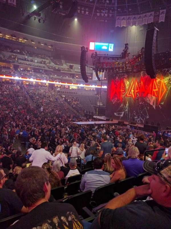Pepsi Center, sección: 102, fila: 14, asiento: 8