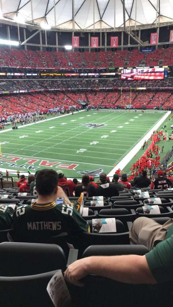 Georgia Dome, sección: 205, fila: 14, asiento: 5