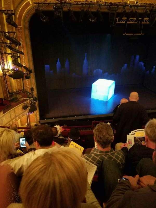 Walter Kerr Theatre, sección: Mezz Left, fila: F, asiento: 5