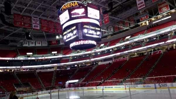 PNC Arena, sección: 101, fila: H, asiento: 3