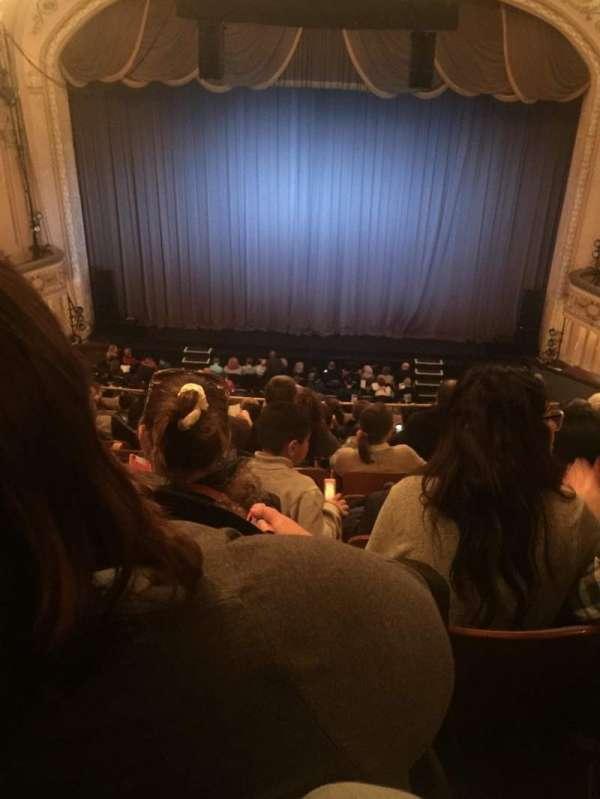 Merriam Theater, sección: Balcony, fila: L, asiento: 106