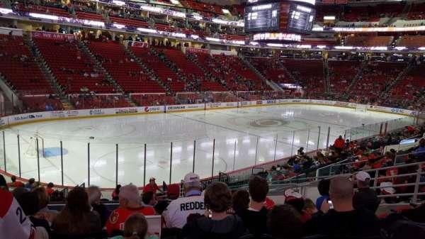 PNC Arena, sección: 108, fila: T, asiento: 9