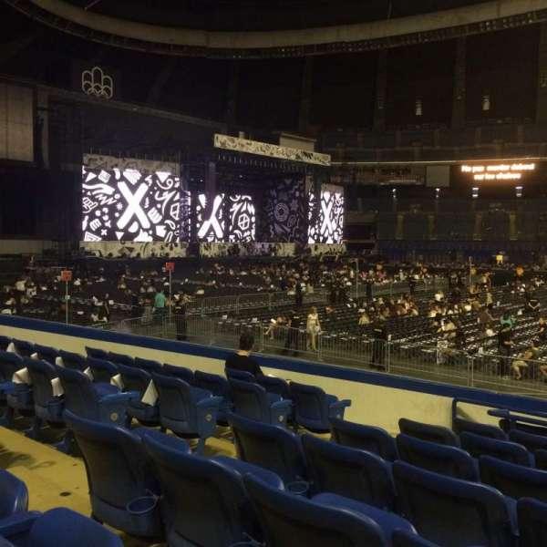 Olympic Stadium, Montreal, sección: 132, fila: OO, asiento: 7-9