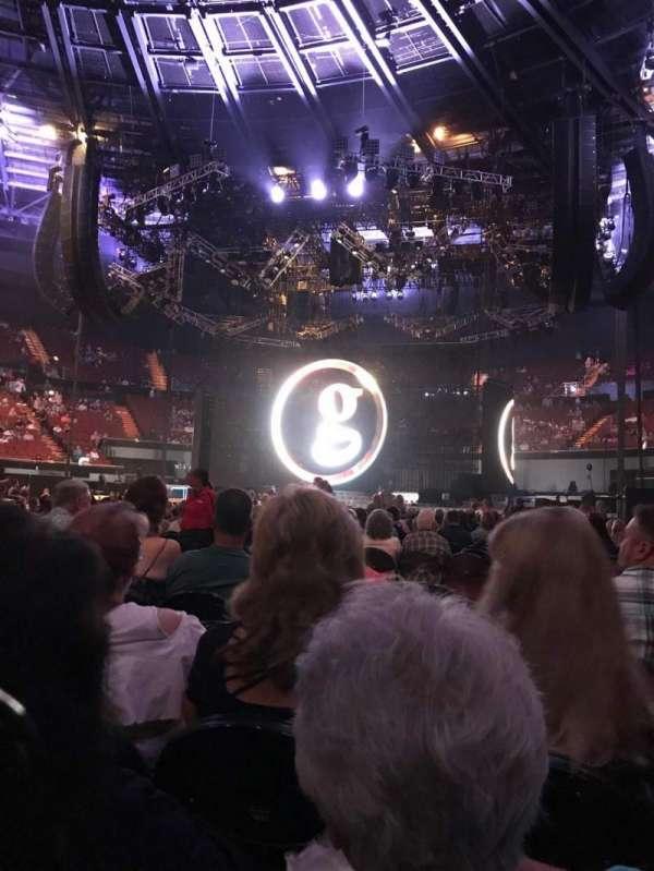 The Forum, sección: Floor, fila: J, asiento: 6