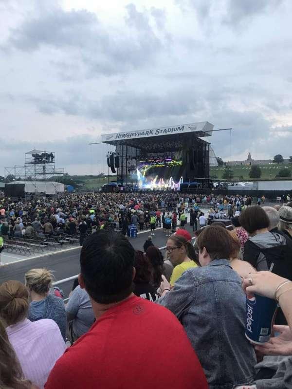 Hershey Park Stadium, sección: 28, fila: DD, asiento: 23