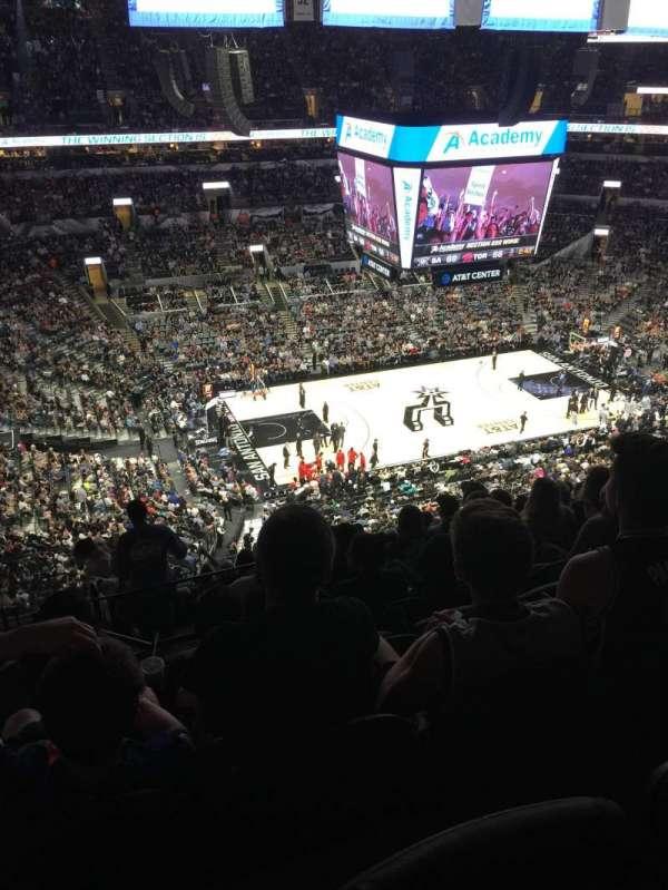AT&T Center, sección: 210, fila: 12, asiento: 20