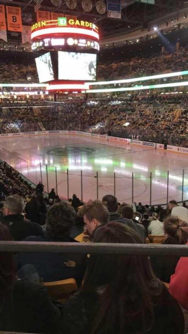 TD Garden, sección: Loge 8, fila: 25, asiento: 38