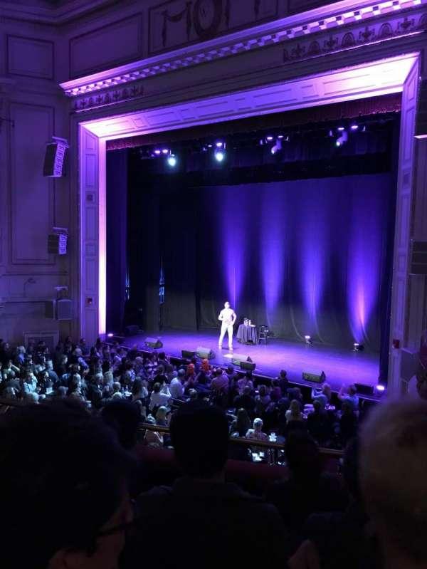 Wilbur Theatre, sección: Mezzanine, fila: D, asiento: 20
