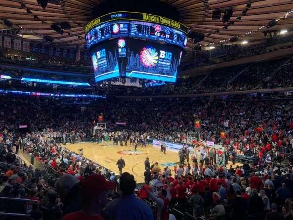 Madison Square Garden, sección: 120, fila: 11, asiento: 10