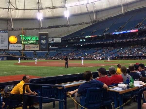 Tropicana Field, sección: 127, fila: G, asiento: 21