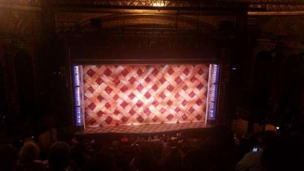 Brooks Atkinson Theatre, sección: Center Mezzanine, fila: K, asiento: 118