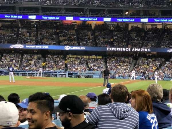 Dodger Stadium, sección: 45FD, fila: A, asiento: 20