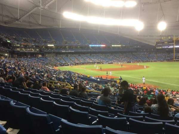 Tropicana Field, sección: 138, fila: JJ, asiento: 11