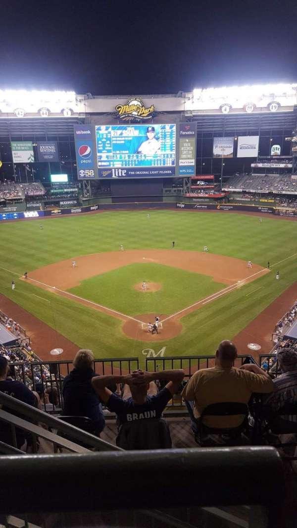 Miller Park, sección: 422, fila: 8, asiento: 2