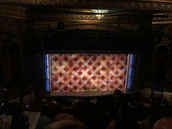 Brooks Atkinson Theatre, sección: Mezz, fila: H, asiento: 120