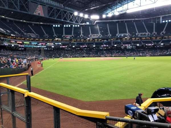 Chase field, sección: 105, fila: 19, asiento: 12