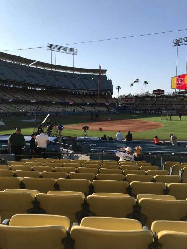 Dodger Stadium, sección: 26FD, fila: K, asiento: 8