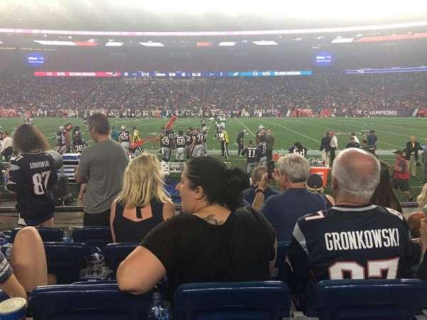 Gillette Stadium, sección: 108, fila: 5, asiento: 14