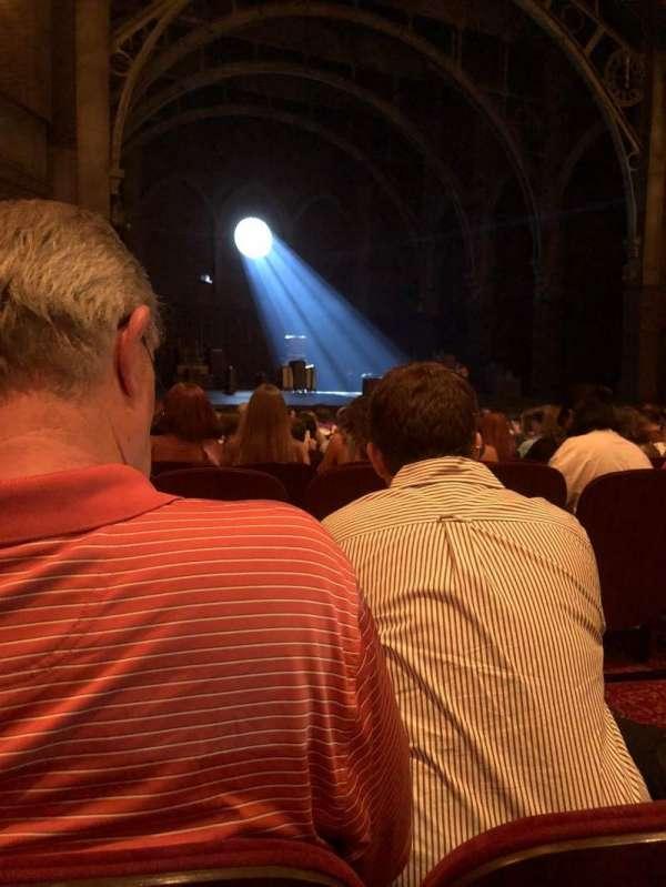 Lyric Theatre, sección: Orchestra, fila: L, asiento: 29