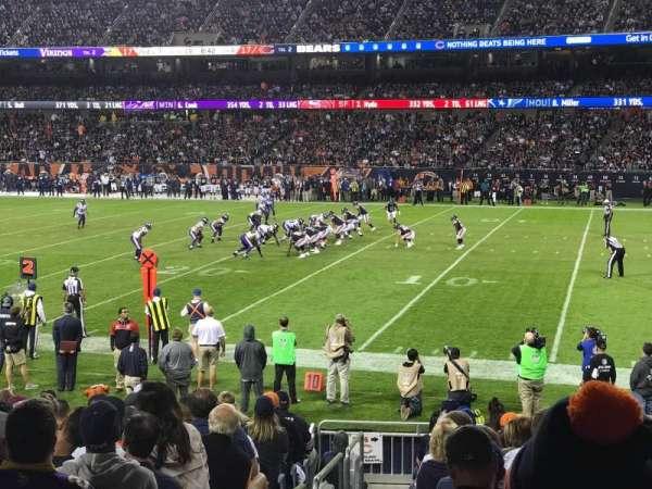 Soldier Field, sección: 104, fila: 14, asiento: 1