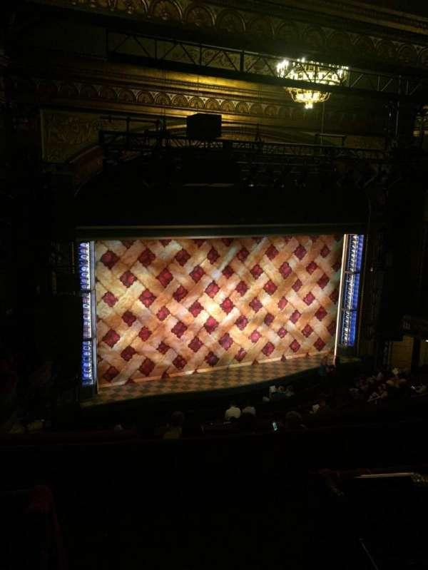 Brooks Atkinson Theatre, sección: Left Mezzanine, fila: G, asiento: 5