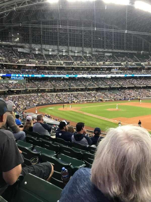 Miller Park, sección: 210, fila: 6, asiento: 16