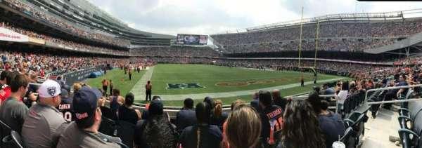 Soldier Field, sección: 154, fila: 5, asiento: 7