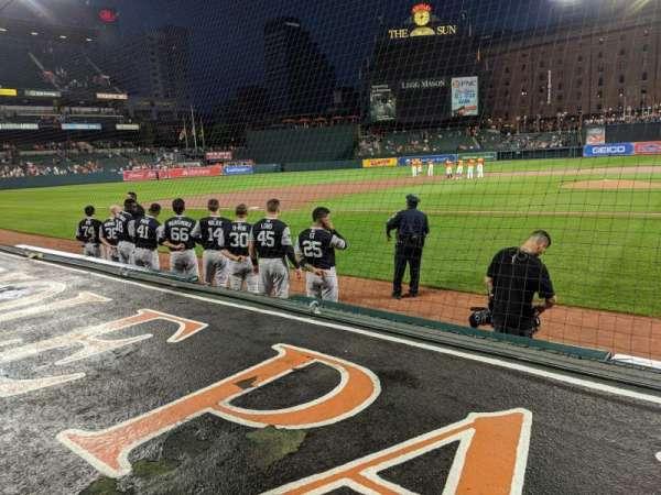 Oriole Park at Camden Yards, sección: 48, fila: 1, asiento: 10
