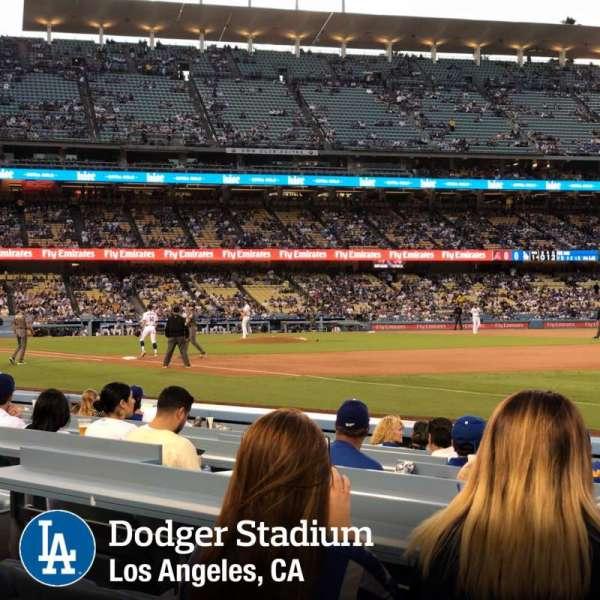 Dodger Stadium, sección: 36FD, fila: A, asiento: 8