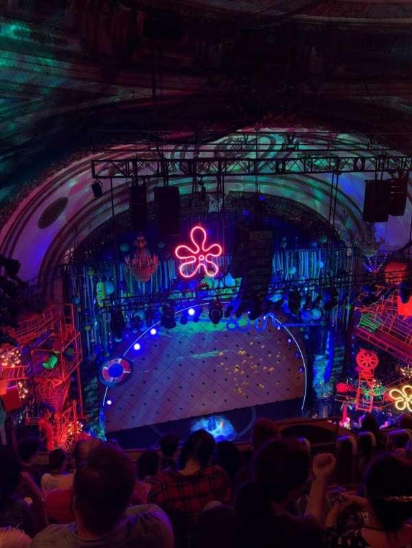 Palace Theatre (Broadway), sección: Balcony, fila: G, asiento: 5